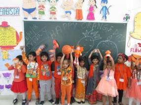 SWS Pre-primary section celebrates Orange Day.