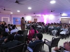 Renowned Story Teller Mr. Vikram Sridhar at STEM World School